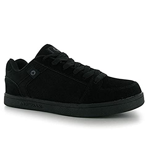 Airwalk Mens Brock Skate Shoes Lace Up Suede Accents Sport Casual Trainers Black UK 9