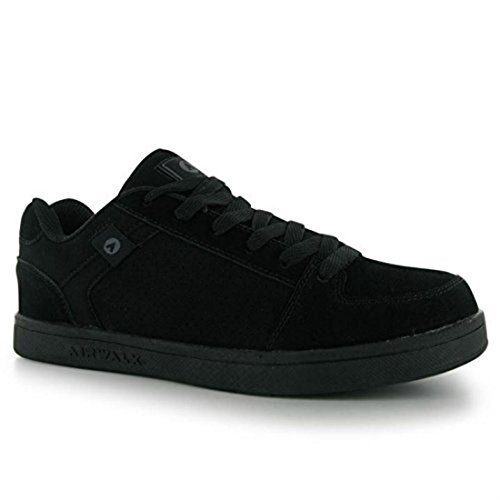 airwalk-mens-brock-skate-shoes-lace-up-suede-accents-sport-casual-trainers-black-uk-9