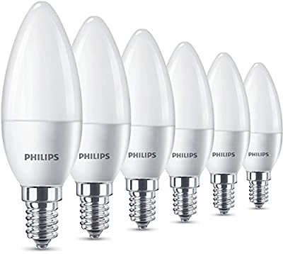 Philips LED Candle Light Bulb, Frosted, 5.5 W (40 W) - Warm White, Pack of 2