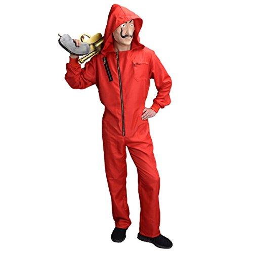 Dali Maske & Kleidung Salvador LA CASA De Papel Geld Heist Halloween Party Maske (XL)