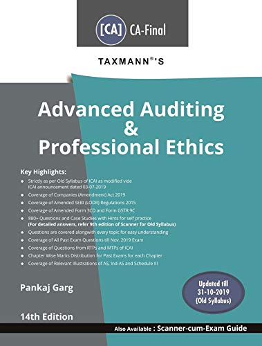 Taxmann's Advanced Auditing & Professional Ethics (CA-Final-Old Syllabus)(14th Edition November 2019-Updated till 31-10-2019)