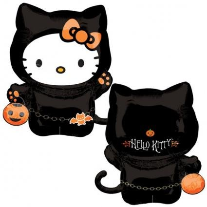 Amscan International Skelett Form Hello Kitty (Kitty Hello Zubehör Halloween)