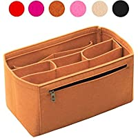 Organizzatore di feltro (con scomparti centrali staccabili), Borsa in borsa, Inserto di borsa di lana, Tote Organize su misura, Borsa di pannolini per trucco cosmetico
