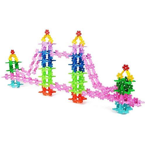 QUN FENG STEM Spielzeug - Building Blocks Lernspielzeug 720 Stück Interlocking Plastic Disc Set Great STEM Spielzeug für Jungen und Mädchen Kinder