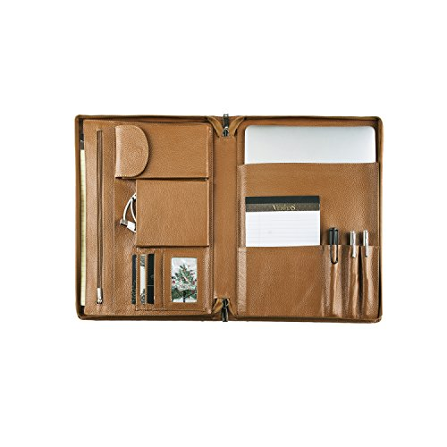 Coface Professional Litchi Korn Leder Organizer Padfolio Fall Deckung für Surface Book 13.5 Zoll (Microsoft Surface Pen Loop)