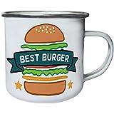Nuevo Restaurante Mejor Hamburguesa Retro, lata, taza del esmalte 10oz/280ml l224e