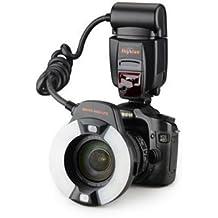 Mcoplus–Skyblue MK-14EXT–Flash anular Macro TTL para Canon E-TTL con luz LED AF auxiliar–todos los Canon EOS Cámara EOS 5d mark iii 5, 5d Mark II, 1Ds Mark [IV/III/II/I], 1d Mark [III/II N/II/I], 7d, 6d, 7d, 60d, 50d, 40d, 30d, 600d, 650d, 600d, 550d, 500d, 450d, 400d, 350d, 300d, 1100d, 1000d