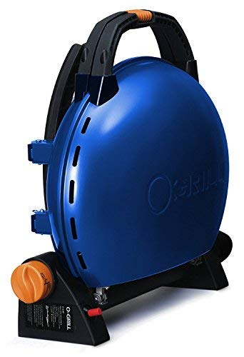 Iroda o-grill 500–Grill A Patrone, 44.5x 21.5x 45cm, blau metallic