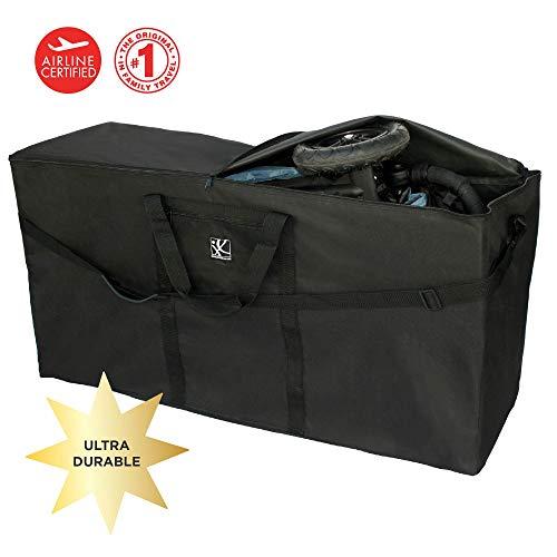 Jl childress - borsa impermeabile per il trasporto di passeggini singoli e doppi, provvista di maniglie e tracolla regolabile e asportabile, colore: nero