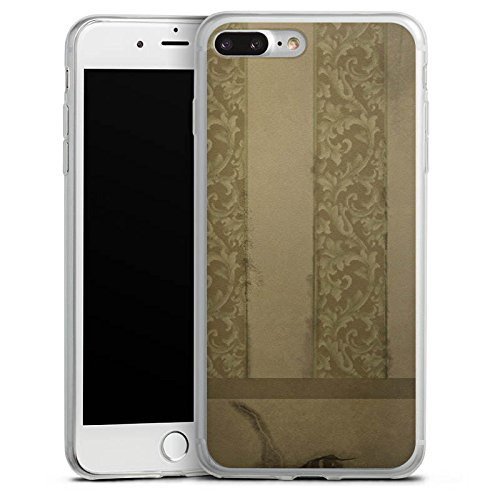 Apple iPhone 8 Plus Slim Case Silikon Hülle Schutzhülle Ornamente Muster Wand Silikon Slim Case transparent