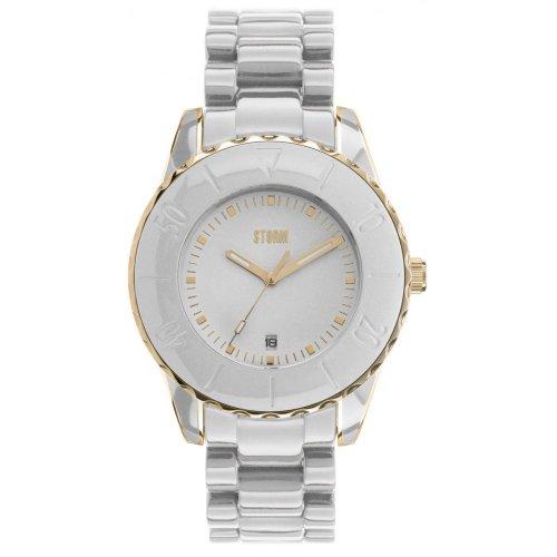 Storm 47027/GD/W - Reloj para mujeres, correa de plástico color blanco