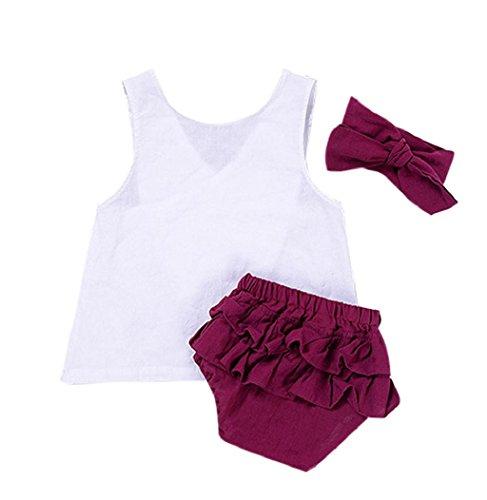 City Kleinkind Party Kostüme Bei (Sommer Babykleidung, Bekleidung Longra Kleinkind Mädchen Sommer Baumwolle Vest t-shirt + Shorts Outfits Kleidung Set (0-24Monate) (70CM 6Monate,)