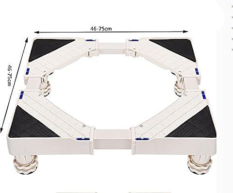 ZJM Double Door Freezer Base Washing Machine Pedestal Movable Rack white ( Size : 8legs )