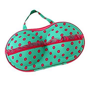 Côté Sac de rangement, Omiky® Leopard Imprimé protection de soutien-gorge Sous-vêtements Lingerie Coque Sac de voyage Boîte de rangement, femme, pois vert