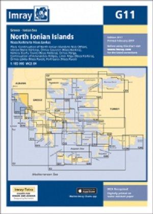Imray Chart G11: North Ionian Islands - Nisos Kerkira to Nisos Levkas (G Series, Band 11) (Charts Imray)