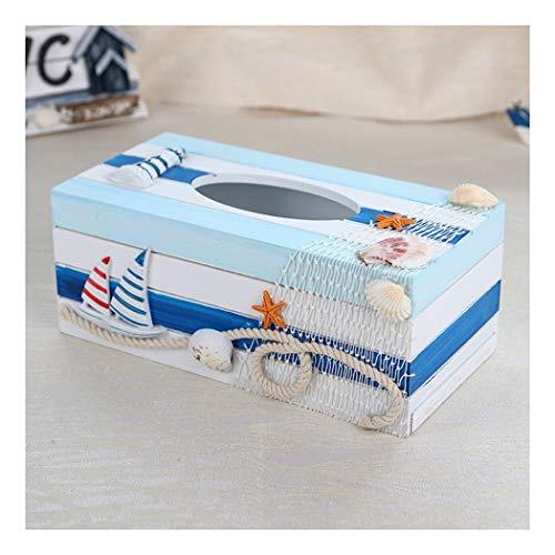 SHUCHANGLE Tissue Box Halter Kreative Vintage Holz Platz Kaffeetasse Muster Seidenpapier Halter...