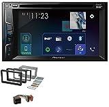 caraudio24 Pioneer AVH-A3100DAB Bluetooth DAB DVD MP3 USB 2DIN Autoradio für Alfa Romeo 159 Spider Brera ab 05 Navi