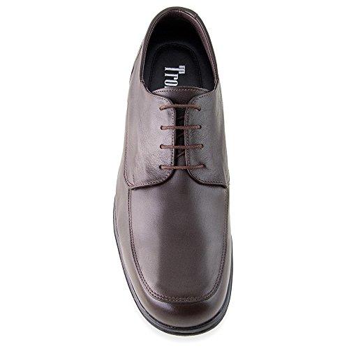 Scarpe da uomo che permettono di aumentare la statura fino a 7 cm. Modello Flex Nature C marrone taglia 38