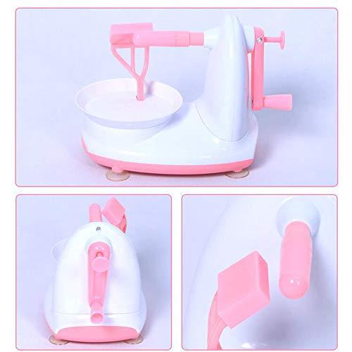 HJSS Obstpeeling Maschine Handkranke Apfelpeelo-Kartoffel-Hobelmaschine Multifunktionspear Peeling-Werkzeug Hausgeburt-Küchenreisemaschine Green 180×110×150.7mm,Pink