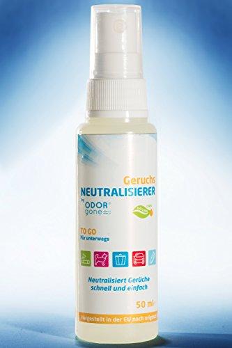 Geruchsneutralisierer Odor Gone® Luft- und Raumerfrischer Spray (50ml) | 100% natürlich ökologischer Geruchsentferner - Reinigungsmittel Allrounder