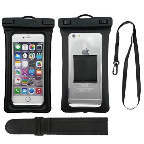 Schwimmbare Wasserdichte Hülle, Schützende Wasserdichte Handytasche mit Lanyard für Innerhalb von 6,3 Zoll Smartphones (Smartphone-wasserdicht Schützende)