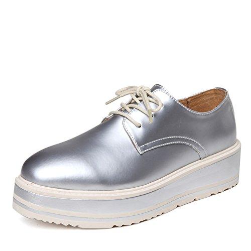 Plate-forme de printemps, avec des semelles épaisses chaussures femme/Chaussures coréens/Casual chaussures femme/Chaussures plates/Chaussures sport en cuir C