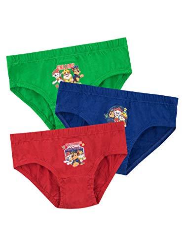Paw Patrol Jungen Unterwäsche Packung mit 3 Mehrfarbig 98 cm