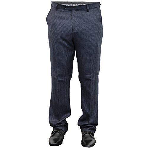 Cavani pour Hommes Pantalon Pantalon Habillé Mariage Bureau Travail Élégant Mode Décontractée Neuf - Marine - Jaks, 30\