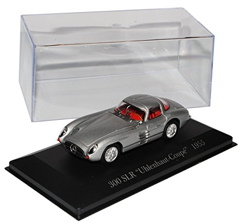 Mercedes-Benz 300 SLR Uhlenhaut Coupe Silber 1955 Inkl Zeitschrift Nr 68 1/43 Ixo Modell Auto (Zeitschrift 1955)