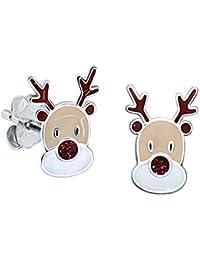Rentier Ohrringe Miniblings Hänger Weihnachten Reh Xmas Rudolf Rudolph X-Mas