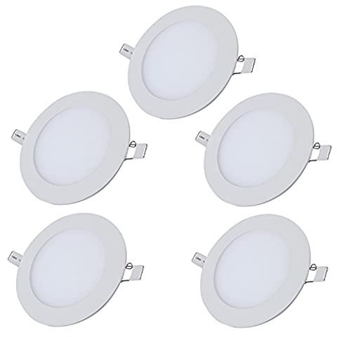 Liqoo LED Panel Recessed Ceiling Light Round Ultra Slim Downlight Spotlight 3W Warm White 3000K 225 Lumen Equivalent to 20W 2835 SMD AC 85 - 265V with Transformer