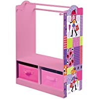 Liberty House Toys Fashion Girl Dress up with Storage, Wood, Pink/Purple