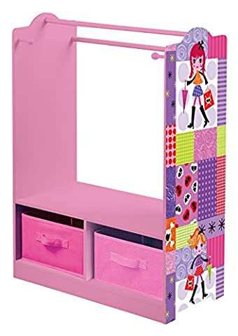Liberty House Toys Fashion Girl Dress up with Storage, Wood, Pink/Purple