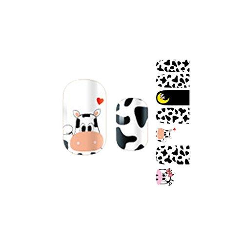 ELENXS Beauty Nail autocollants polonais Feuille Décoration Stickers Art Bricolage