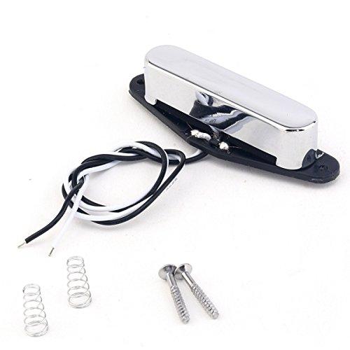 Musiclily Pro 50mm Alnico V Tele Manico Pickup Single Coil per Chitarra Telecaster,Cromo