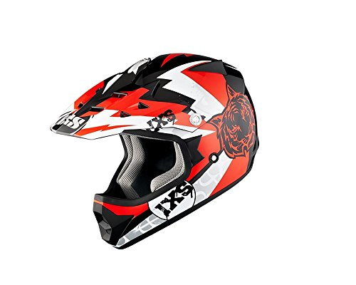 Casque moto cross IXS HX 278 Tiger Noir/Rouge/Blanc