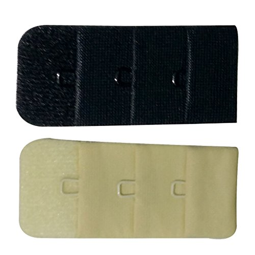 Bralux Bra Hook Extender Skin & Black 1x3 Set of 2  available at amazon for Rs.150