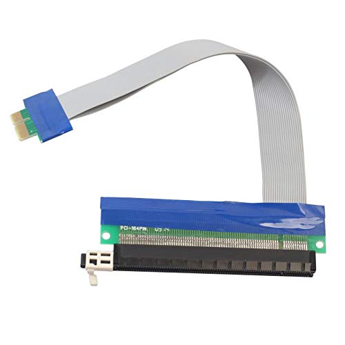 XZANTE PCI-E PCI Express 16X auf 1 x Riser-Kartenadapter Extender Flex Flexibles Verlaengerungskabel