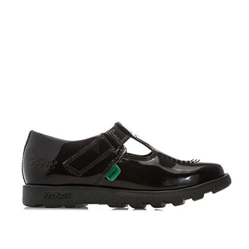 Kickers Baby Mädchen Fragma T-bar Ballerinas, Schwarz (Black Blk), 29 EU - Infant Black Patent Schuhe