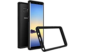 RhinoShield Bumper Case GALAXY Note 8 [Crashguard] | Shock Absorbent Slim Design Protective Cover - Compatible w/Wireless Charging [3.5M/11ft Drop Protection] - Black