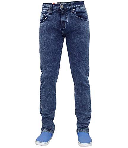 Pantalones vaqueros True Face ajustados y elásticos de algodón para hombre Beige Mediados De Azul talla única
