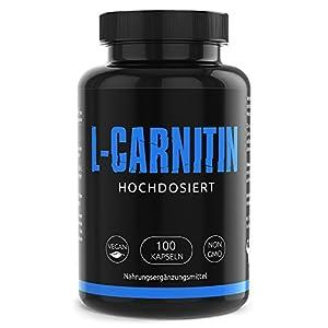 L- CARNITIN Kapseln hochdosiert 3000 L Carnitin – Extrem Beliebt bei Sportlern- Laborgeprüft vegan und ohne Zusätze 100 Kapseln Made in Germany