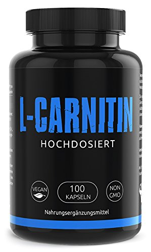GYM - NUTRITION PREMIUM L-CARNITIN 2000 | Hochdosiert | Für Die Definitionsphase und Diät | Fatburner | Fettverbrennung | Regeneration | 100 Kapseln | Vegan & Halal | Made in Germany