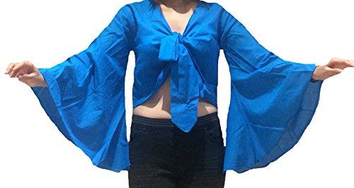Belly Dance Tribal Gypsy Fancy Dress Top UK Size 10-24 - M L XL to 3XL (22-24, Türkis) (Dance Team Kostüme)