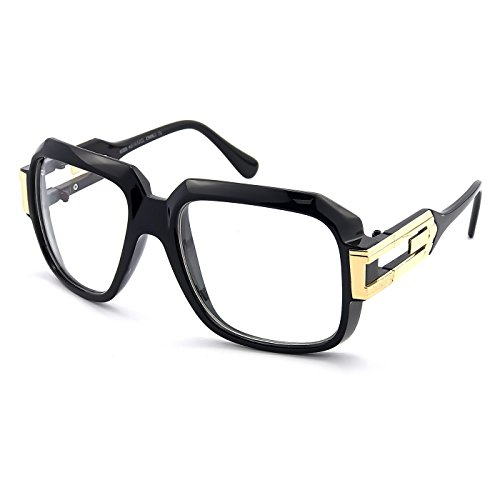 Kiss Brillen in neutralen OLD SCHOOL mod. BURST - optischen rahmen HIP-HOP mann frau VINTAGE - SCHWARZ