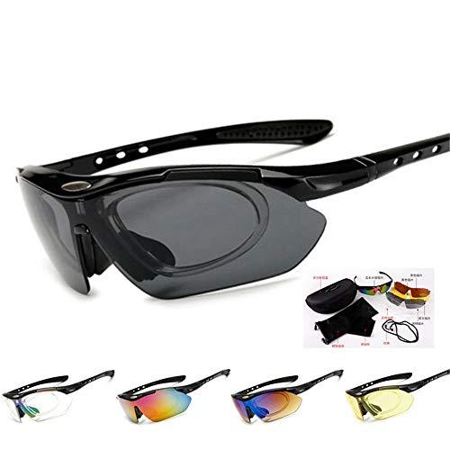Radfahren Laufen Brille Reiten Staub explosionsgeschützte Sport Outdoor Brille Wind kann 5 Linsen Set Großhandel Sonnenbrillen ersetzen für Männer Frauen Leichtgewicht in Radfahren, Ange