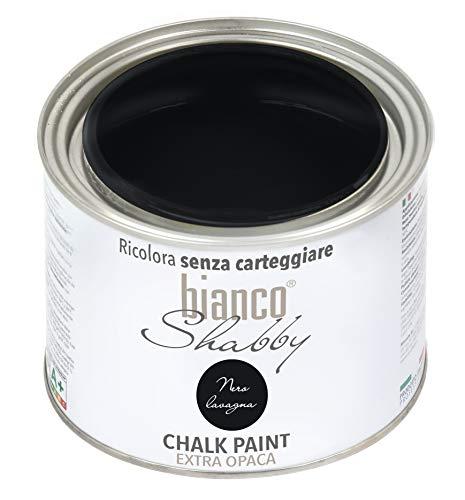 CHALK PAINT Nero Lavagna Pittura Shabby Chic Vintage per Mobili e Pareti EXTRA OPACO (500 ml)