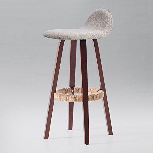 Tabourets hauts, Barstool Coffee Shop Restaurant occidental chaise de réception en bois massif coloré peut être nettoyé chaise 33 * 33 * 82 CM (Couleur : A)