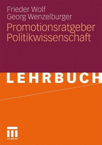 Promotionsratgeber Politikwissenschaft