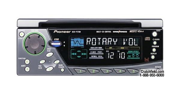 pioneer deh p77dh radio cd player 1 5 din in dash 45 watts rh amazon co uk